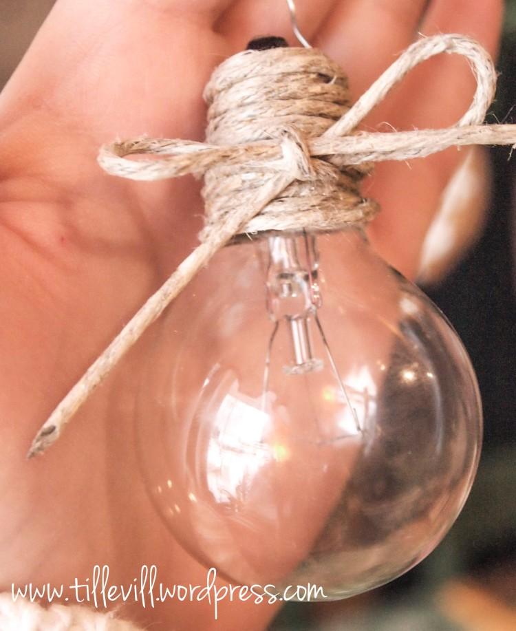 Julkula av glödlampa