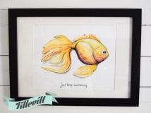 Akvarell - Just keep swimming
