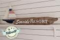Seaside resort -DIY skylt