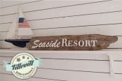 Seaside resort -DIY skylt