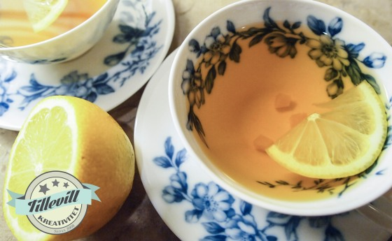 citron och ingefära tea