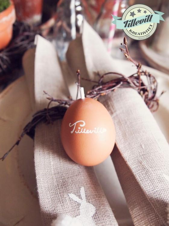 Ägg som namnplacering